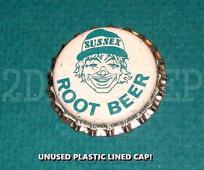 Sussex Clown Root Beer Soda Old Beverage Vintage Pop Drink Unused P/l Bottle Cap