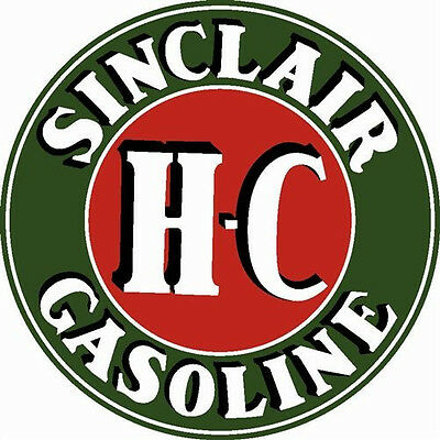 "Sinclair Dino HC H-C Gas Gasoline Metal Steel Sign Large 25.5"" Vintage Garage"