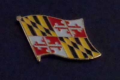 Maryland State Flag Lapel Pin USA MD