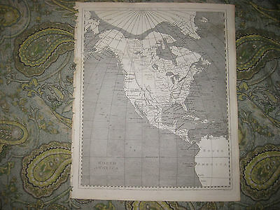 Antique 1805 North America Arrowsmith And Lewis Map United States Texas Florida