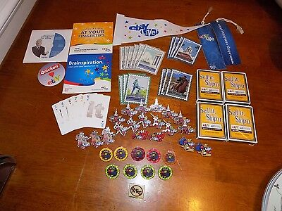 "LOT of 60 ebayanna collectibles Las Vegas ""it"" Boston convention flag pins cards"