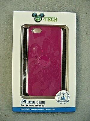 Disney Parks D-Tech Minnie Mouse Disneyland Magenta Cell Phone Case iPhone 5 NEW