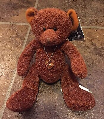 RUSS Bear Of The Month, NOVEMBER Topaz, Very Good Condition