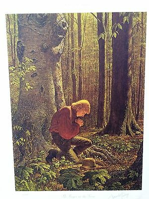 Arnold Friberg's THE PRAYER IN THE GROVE Art Print - FREE SHIPPING!!!