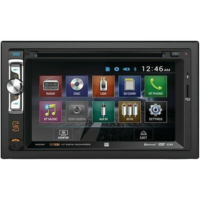 "Dual DV527BT Stereo 6.2"" Double-DIN DVD Receiver BlueTooth/Remote/Harness"