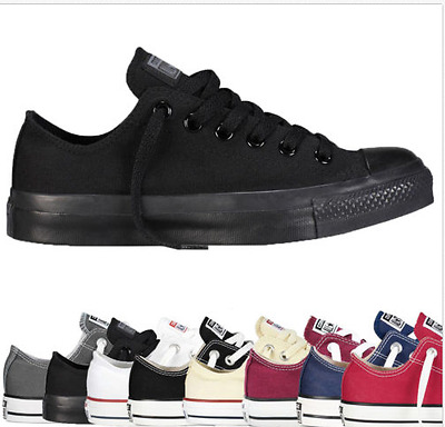 NEW FASHION MENS Lo Top Mens Womens Low Tops Chuck Taylor Trainers Shoes/UK