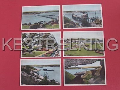 6 Victor Harbour South Australia Postcards Causeway Granite Island etc