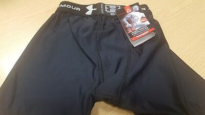 """Brand New Under Armour Compression Size Youth Waist 25 -26"""" Boxers Shorts Pants"""