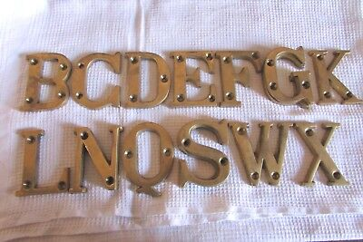Fabulous Vintage French Brass Letters - Choose From The List Of 19 New Old Stock