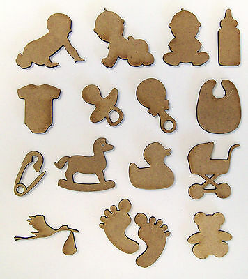 MDF Wooden Baby laser cut out shapes, craft making, decoration, embellishment