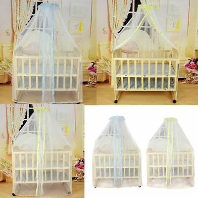 Baby Summer Dome Mosquito Insect Net Infant Canopy Toddler Crib Bed Cot Netting