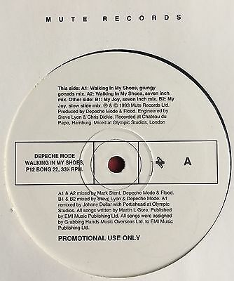 "DEPECHE MODE -Walking In My Shoes- Rare UK 4 Track UK Promo 12"" (Vinyl Record)"