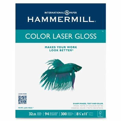 Hammermill Paper, Color Laser Gloss Poly Wrap, 32lb, 8.5 x 11, Letter, 94