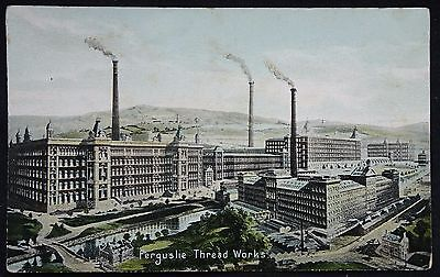Old Postcard - Ferguslie Thread Works, Paisley, Renfrewshire, Scotland
