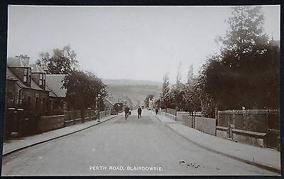 Old Real Photo Postcard - Perth Road, Blairgowrie, Perthshire, Scotland