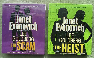 2 AUDIOBOOKS: The Scam & The Heist by Janet Eavnovich UNABRIDGED $70 value