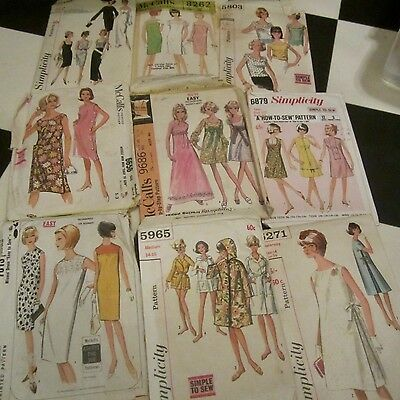 Bulk Lot 9 Vintage Sewing Patterns Retro Dress Skirt Pants 1960S All Size 14-16
