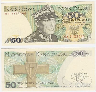 143e; Crisp UNC from 1988 Eagle Arms POLAND 100 Zlotych P