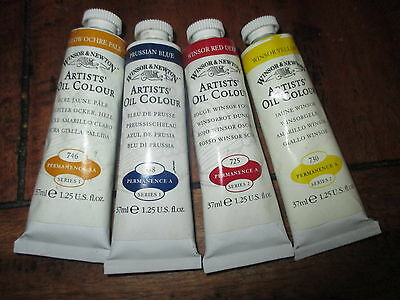 5 WINSOR & NEWTON ARTISTS OIL COLOURS  37ml***