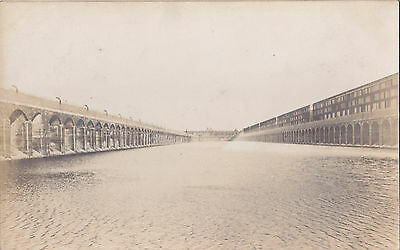 View from the water level MANCHESTER DOCKS England UK Early Real Photo Postcard