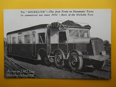 LMS Railway Bletchley to Oxford Line 1932 *Vintage* Micheline Train Tyres Advert