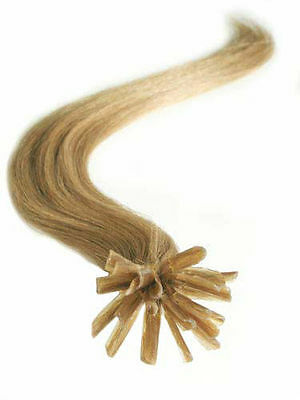 """Pre Bonded Glue In Remy Human Hair Extensions 25 Strand 20"""" Light Ash Blonde #16"""