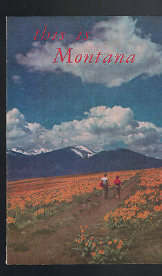 This is Montana Travel Booklet 1956 Montana Highway Commission