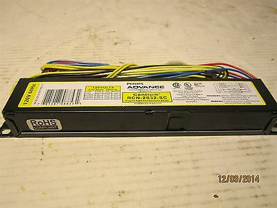 Philip Advance RCN-2S32-SC Rapid Start Electronic Ballast, T8 Lamps, 120V