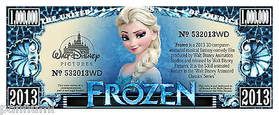 *FROZEN* 1 Million Dollars Novelty paper banknote (2 banknotes)