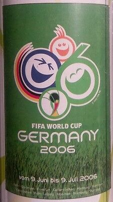 WORLD CUP GERMANY 2006 OFFICIAL LOGO POSTER 68cm x 98cm ORIGINAL FOOTBALL NEW