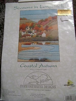Derwentwater Long Stitch Kit - Coastal Autumn Kit