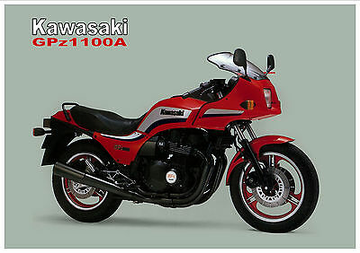 KAWASAKI Poster GPz1100 ZX1100 1983 1984 1985 Suitable to Frame