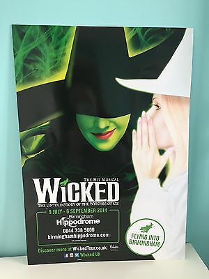 Wicked UK Tour Theatre Poster - New - Musical - 2014 - Rare