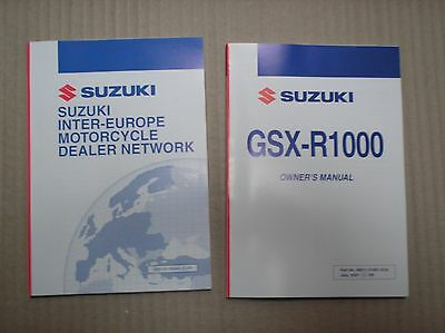 Suzuki GSXR 1000 GSXR1000 K8 2008 genuine owners manual 99011-21H51-01A UNUSED