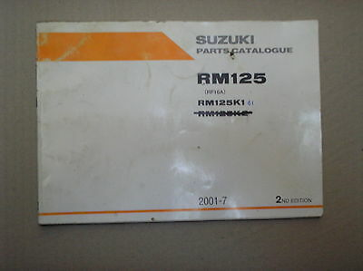 Suzuki RM 125 RM125 K1 genuine parts catalogue 9900B-20076-010 USED
