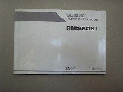 Suzuki RM 250 RM250 K1 genuine parts catalogue 9900B-28043 USED