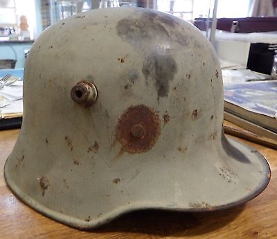 World War One (WWI) Imperial German M16/17 helmet with liner