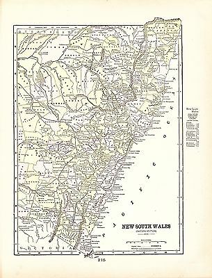 Map of New South Wales Australia George Cram 1900