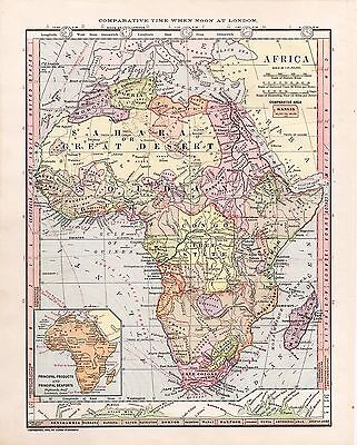 1885 Map of Africa  Monteith