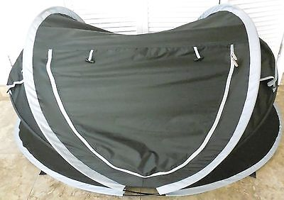 DERYAN PEUTER LUXE TRAVEL Bed DOME Black CHILDCARE Travel CAMP Cot 073030-002