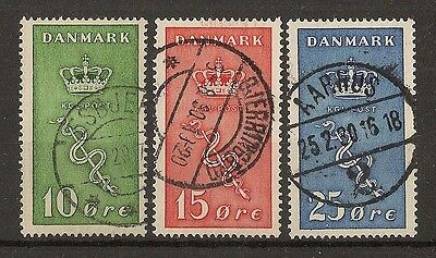 Denmark 1929 Cancer Research SG252-254 Fine Used Cat£70