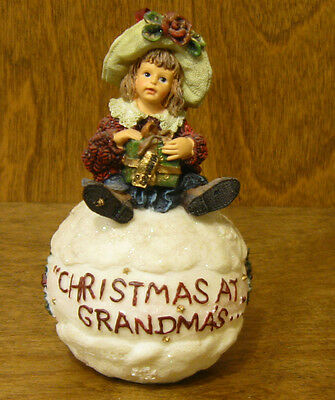 Boyds Resin Ornament #25858 SHANNON...CHRISTMAS AT GRANDMA'S From Retail Store