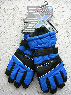 Zeroxposur Youth Performance Blue/black Gloves Size L/xl   Nwt