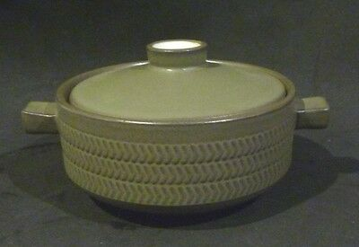 Denby Chevron Small Twin Handled Lidded Bowl / casserole/ ramekin