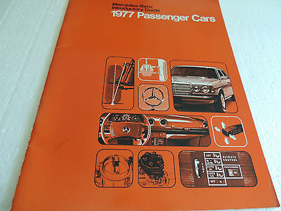 1977 Mercedes Benz large full line Brochure Salesman's intro Guide Scarce!