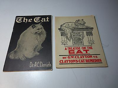 c 1920 Lot 2 Books A TREATISE ON THE CAT G.W. Clayton THE CAT Dr. A.C. Daniels