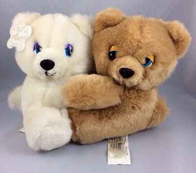 Luv Bears Caress Soft Pets Russ Berrie Vintage Teddy Cub Valentines Day Love 6""