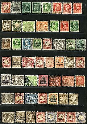 Germany Bavaria  Lot Of Used Stamps  As Shown
