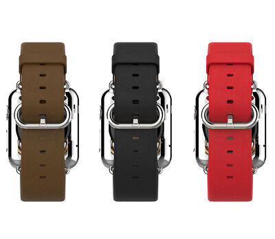 Luxury Genuine Leather Watch Wrist Band Strap for Apple Watch 38/42mm Sports US
