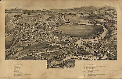 12x18 inch Reprint of American Cities Towns States Map Enosburgh Fallsft
